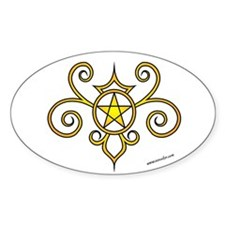 Pentacle Swirl Oval Decal