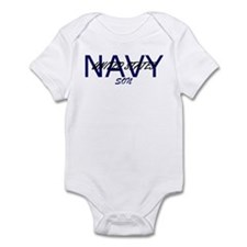 Navy son Infant Bodysuit