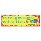 Cure Ignorance Bumper Bumper Sticker