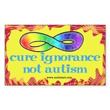 Cure Ignorance Rectangle Sticker 50 pk)