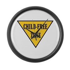 Child-Free Zone Large Wall Clock