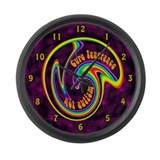 Cure Ignorance (Rainbow) Large Wall Clock