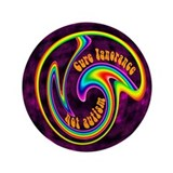 "Cure Ignorance (Rainbow) 3.5"" Button"