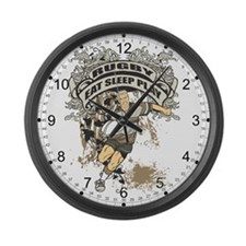 Eat, Sleep, Play Rugby Large Wall Clock