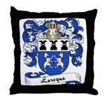 Laroque Family Crest Throw Pillow