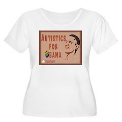 Autistics for Obama Women's Plus Size Scoop Neck T