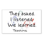 Teaching Rectangle Sticker 10 pk)