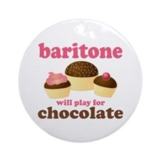 Funny Baritone Ornament Round For