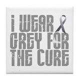I Wear Grey For The Cure 16 Tile Coaster
