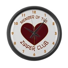 Zipper Club Large Wall Clock