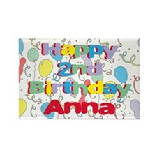 Anna's 2nd Birthday Rectangle Magnet