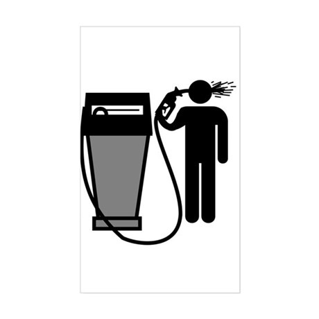 Gas Pump Suicide Rectangle Sticker
