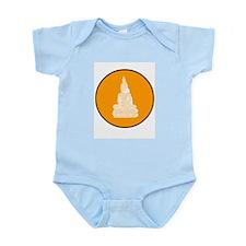 Orange Floating Buddha Circle Infant Creeper