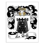 Le Goff Family Crest Small Poster