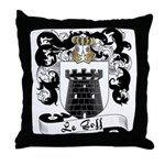 Le Goff Family Crest Throw Pillow