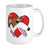 Cartoon Borzoi Love Mug