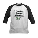 Poopie Monster! -  Kids Baseball Jersey