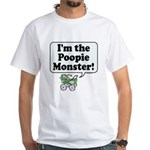 Poopie Monster! - White T-Shirt