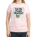 Poopie Monster! -  Women's Pink T-Shirt