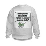The PoopScout Motto -  Kids Sweatshirt