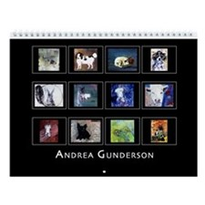 Andrea Gunderson Animal Paintings Wall Calendar