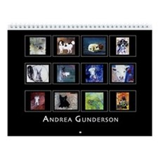Andrea Gunderson Animal Paintings Wall Calendar