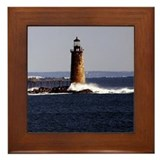 Ram Island Ledge Framed Tile