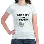 Support Our Poops -  Jr. Ringer T-Shirt