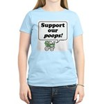 Support Our Poops -  Women's Pink T-Shirt