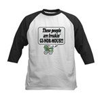 Ginormous People! -  Kids Baseball Jersey
