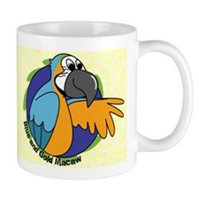 Cartoon Bird B&G Macaw Mug