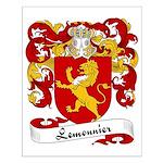 Lemonnier Family Crest Small Poster