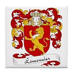 Lemonnier Family Crest Tile Coaster