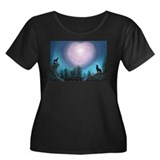 Wolf Moon Heart Song Women's Plus Size Scoop Neck