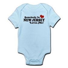Somebody in New Jersey Loves Me Infant Bodysuit