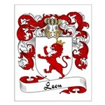 Leon Family Crest Small Poster