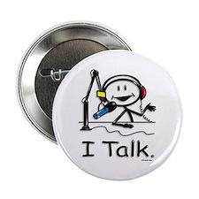 """BusyBodies Radio Talk Show Host 2.25"""" Button (100"""