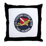 Customs Dive Team Throw Pillow