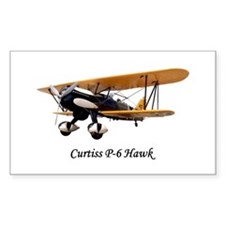 Curtiss P-6 Hawk Rectangle Sticker 10 pk)