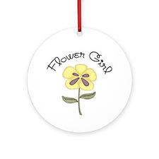 Flower Girl Ornament (Round)