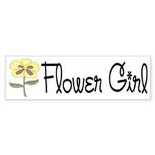 Flower Girl Bumper Bumper Sticker