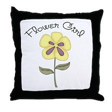 Flower Girl Throw Pillow