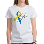 Down Syndrome Ribbon Hope Women's T-Shirt