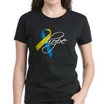 Down Syndrome Ribbon Hope Women's Dark T-Shirt