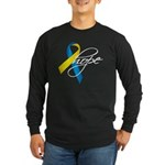 Down Syndrome Ribbon Hope Long Sleeve Dark T-Shirt
