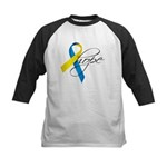 Down Syndrome Ribbon Hope Kids Baseball Jersey