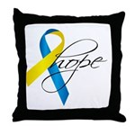 Down Syndrome Ribbon Hope Throw Pillow