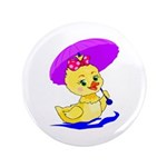 "Baby Girl Duck 3.5"" Button (100 pack)"