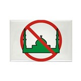 No Mosque Rectangle Magnet