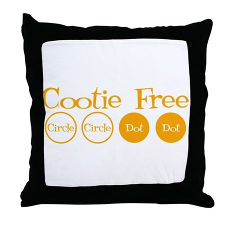Cootie Free Throw Pillow